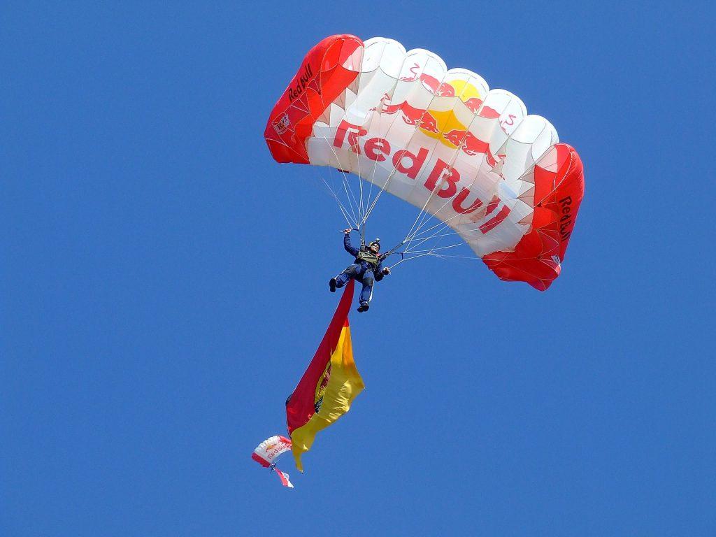 red bull parachute